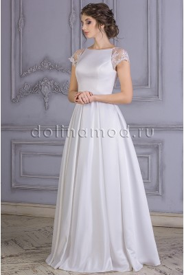 Wedding dress with sleeves-Raglan Margarita CM-861