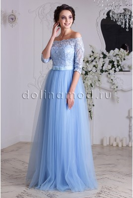 Prom dress with sleeves Anastasia DM-837
