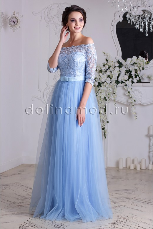 Выпускное платье с рукавом  Anastasia DM-837