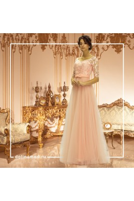 Evening dress with sleeves Melissa DM-840