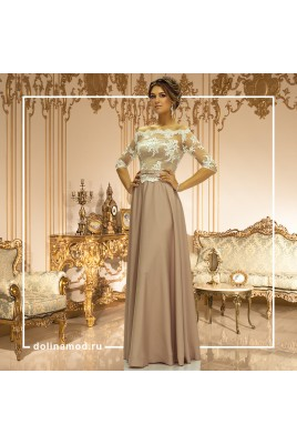 Evening dress with sleeves Alberta DM-841