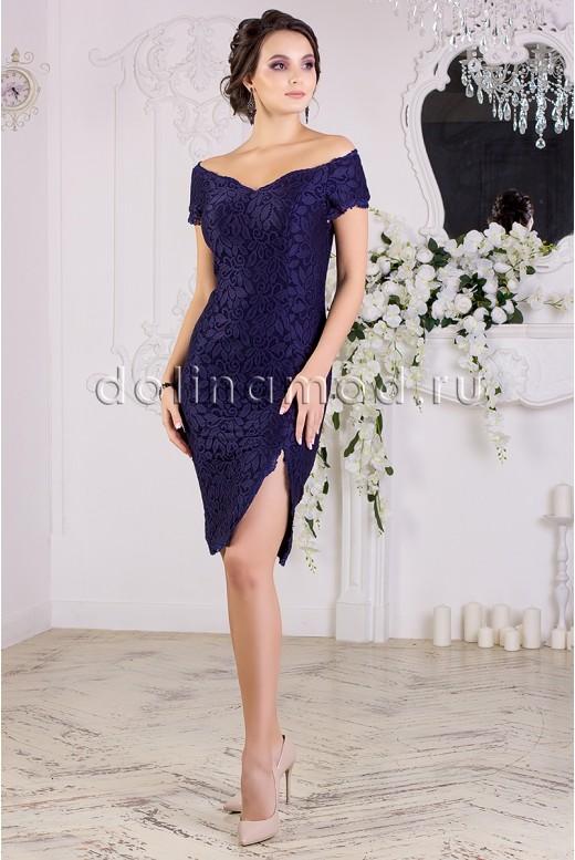 Коктейльное платье-футляр DM-852