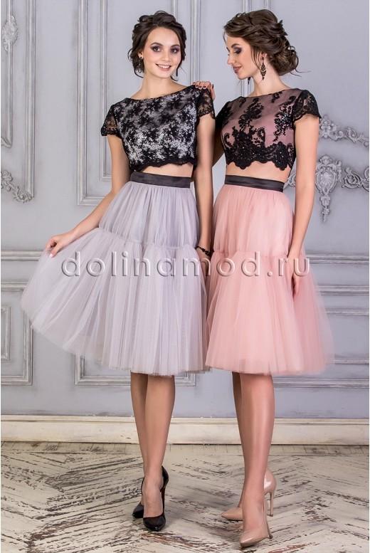 Выпускное платье кроп топ DM-859