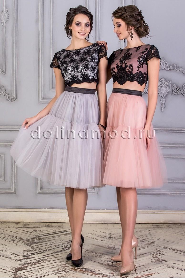 3bbae73296472ba Купить Выпускное платье кроп топ DM-859 оптом от производителя ...