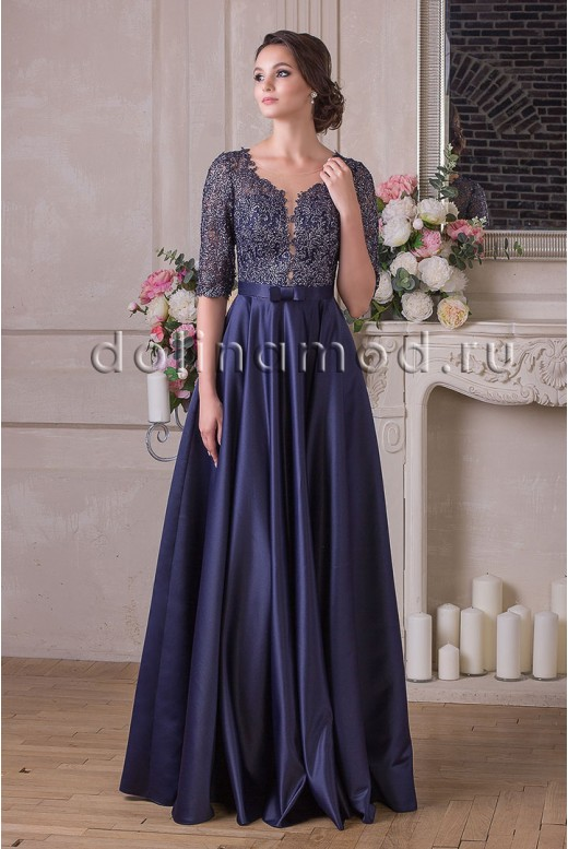 Evening dress with sleeves Amalia DM-898