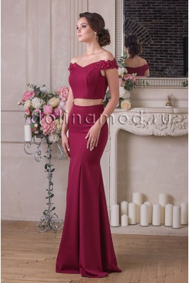 Evening dress crop top Renata DM-922