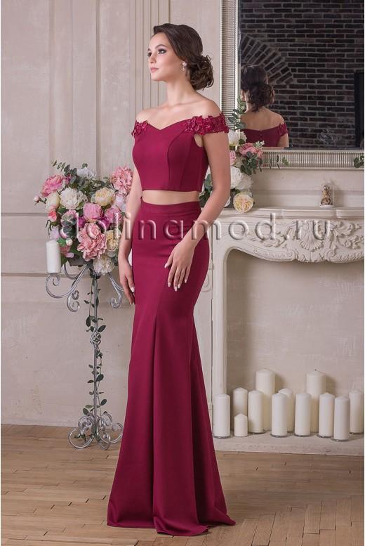 Вечернее платье кроп-топ Renata DM-922