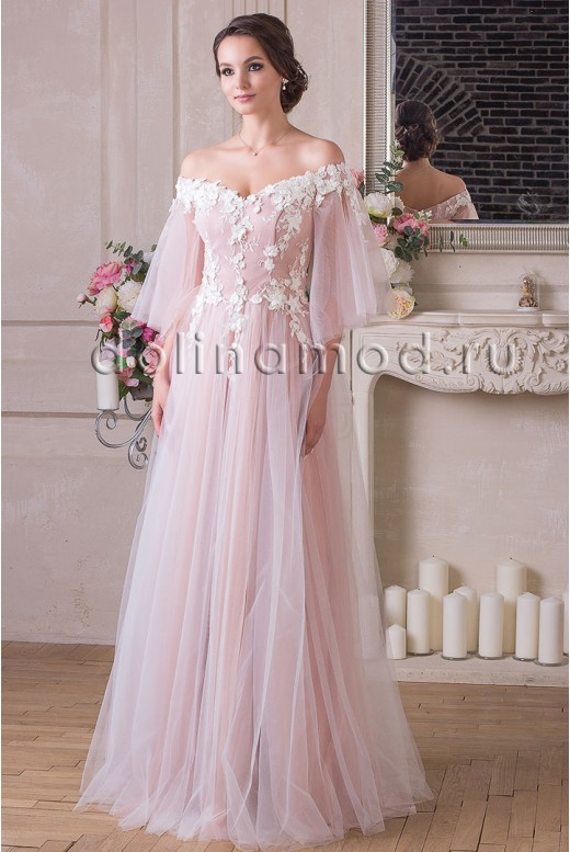 Evening dress with sleeves Adelina VM-906