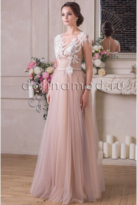 Evening dress with sleeves Nicole VM-914