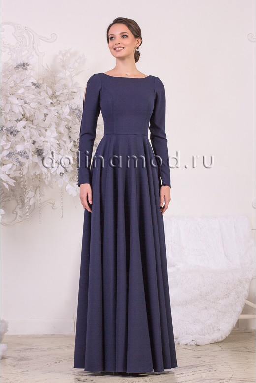 Evening dress with sleeves Megan DM-954