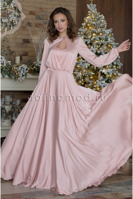 Evening dress with sleeves Ingrid DM-966
