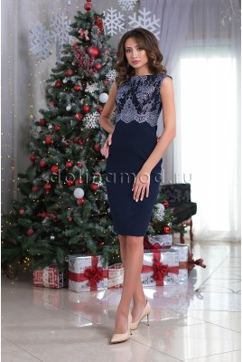 Evening sheath dress Alessandra DM-979