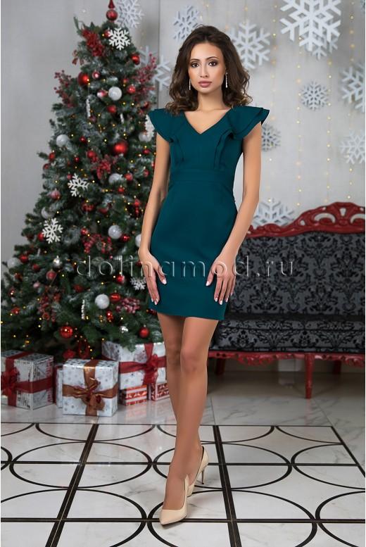 Короткое коктейльное платье-футляр Cincia DM-980