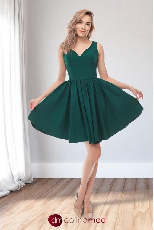 Коктейльное короткое пышное платье Valeria DM-1056