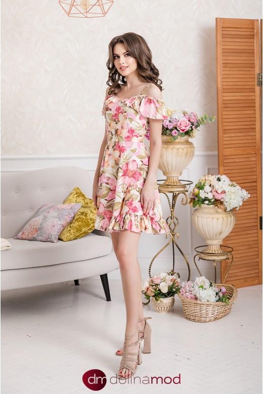 Короткое повседневное летнее платье Miya DM-1013 от производителя