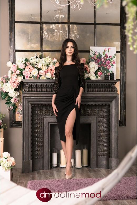 Вечернее платье с рукавами Aziza DM-1028