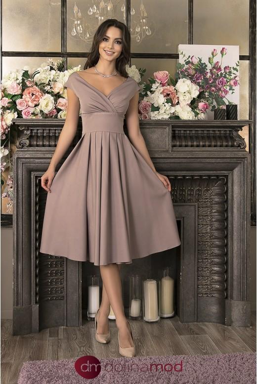 Вечернее платье миди Yvette DM-1033