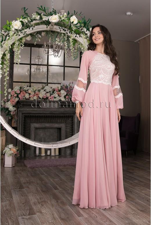 Вечернее длинное платье  Miloslav DM-1034