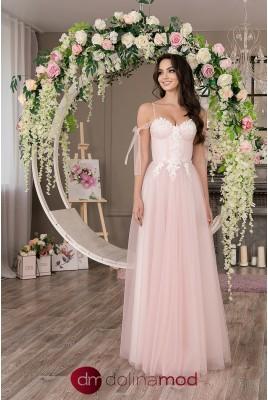 Вечернее длинное пышное платье Martina DM-1037