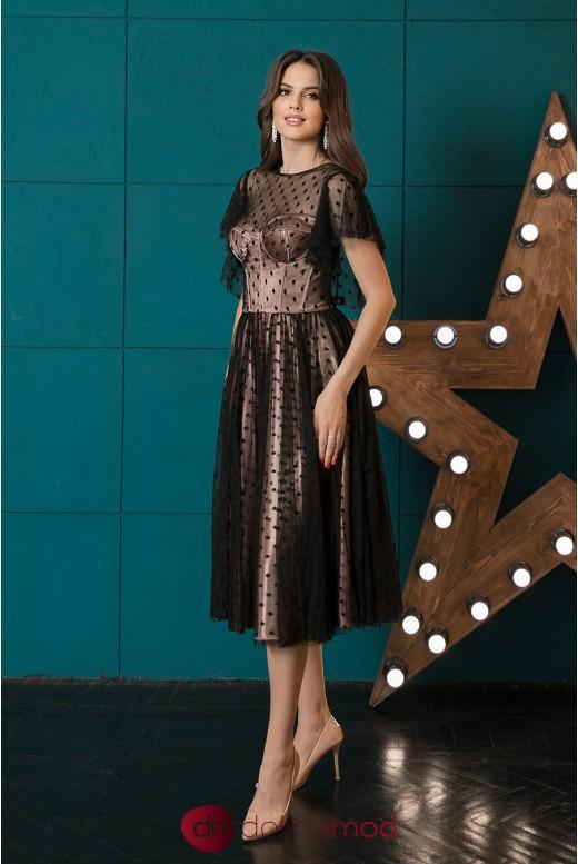 Коктейльное платье  длинны миди Alexis DM-1042