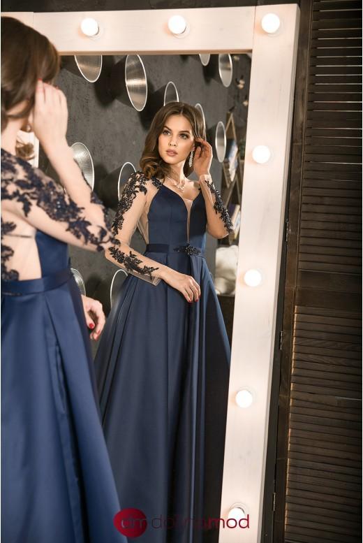 Вечерее пышное платье с кружевными рукавами Elegia DM-1043