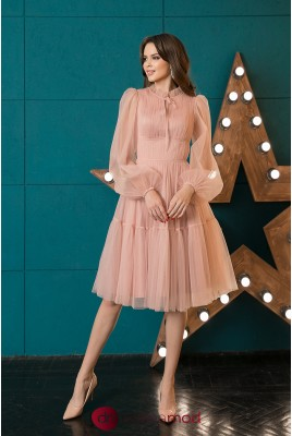 Yesenia DM-1044 Tulle Cocktail Dress