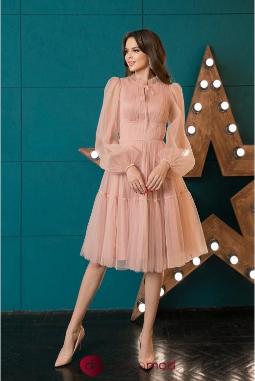 Коктейльное платье миди с рукавами Yesenia DM-1044