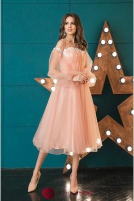 Midi evening dress Leslie DM-1045