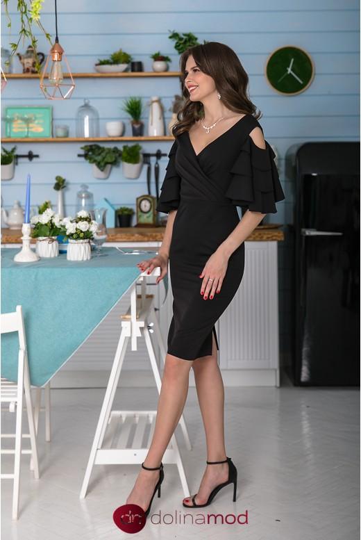 Коктейльное платье с открытыми плечами длины до колен Veronica DM-1050