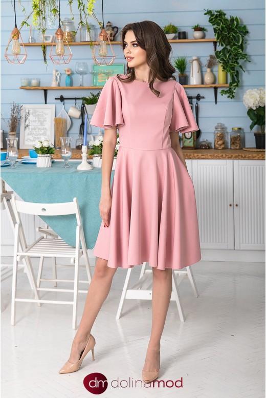 Короткое расклешённое повседневное платье Domiana DM-982