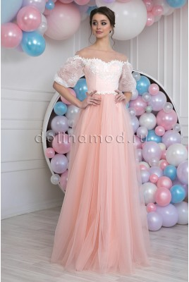 Evening dress with sleeves Daisy DM-988