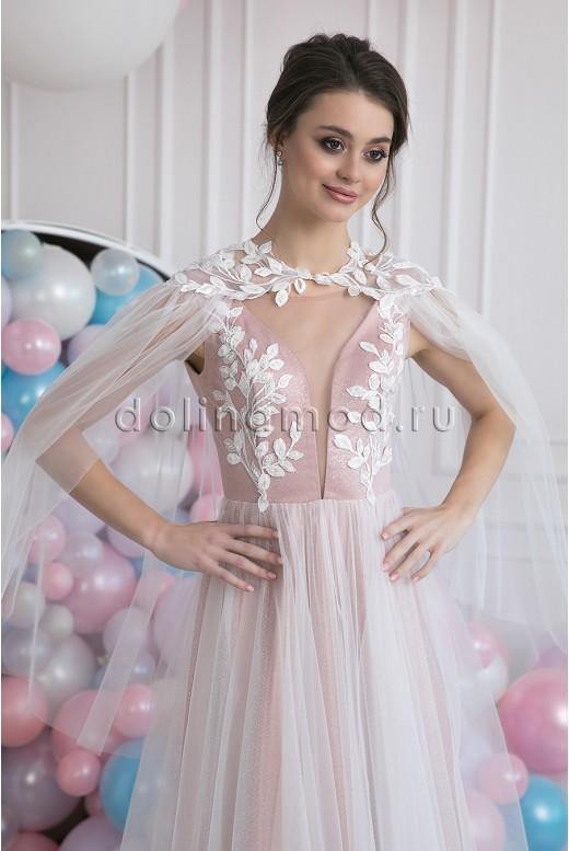 Свадебное пышное платье с накидкой Estelle MS-1018