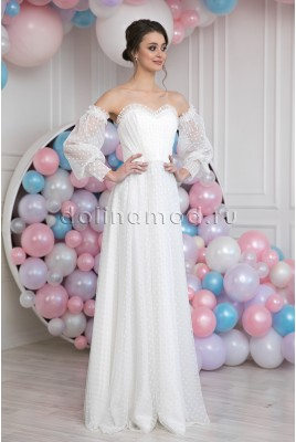 Rachelle MS-1020 long sleeve Wedding dress