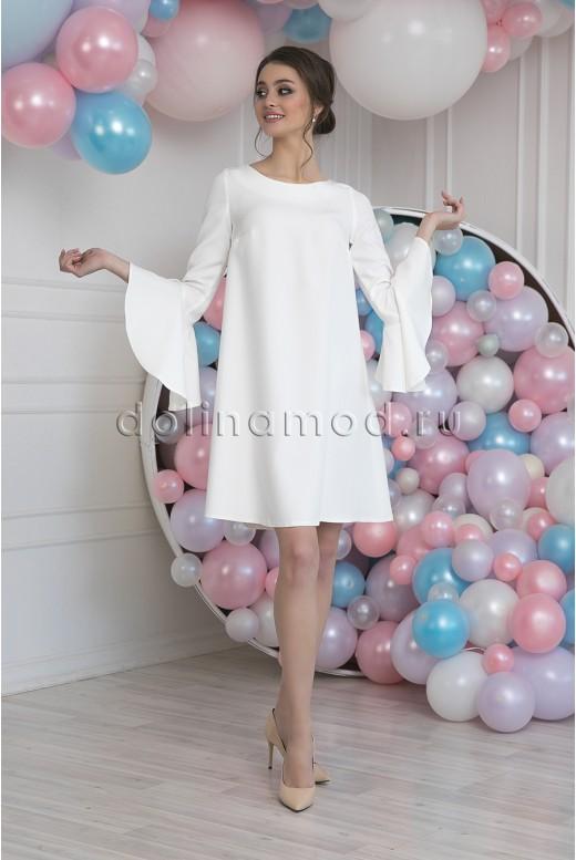 Короткое свадебное платье с рукавами Blanca MS-1021