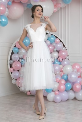 Wedding dress midi Jaqueline MS-962