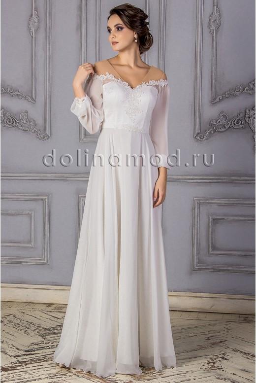 Свадебное платье с рукавами Isabella MS-866
