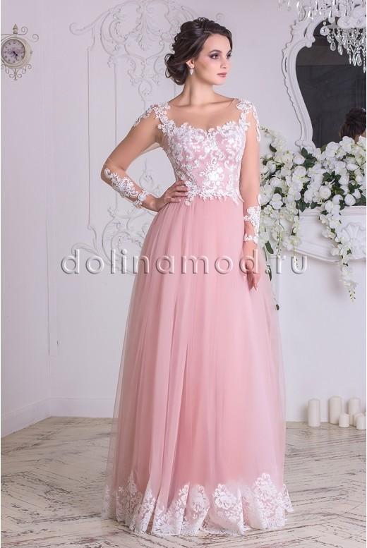 Выпускное платье с рукавами Constancia СM-869
