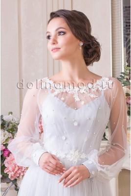 Свадебное платье с рукавами Carolina CM-907-C