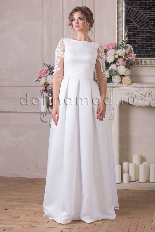 Wedding dress with sleeves Lucia MS-912