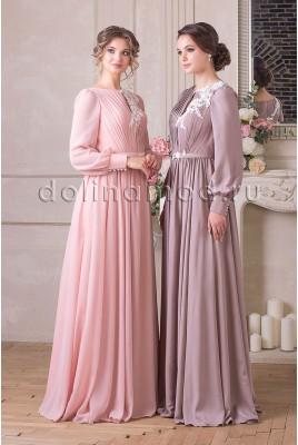 Вечернее платье с рукавами Milena CM-913