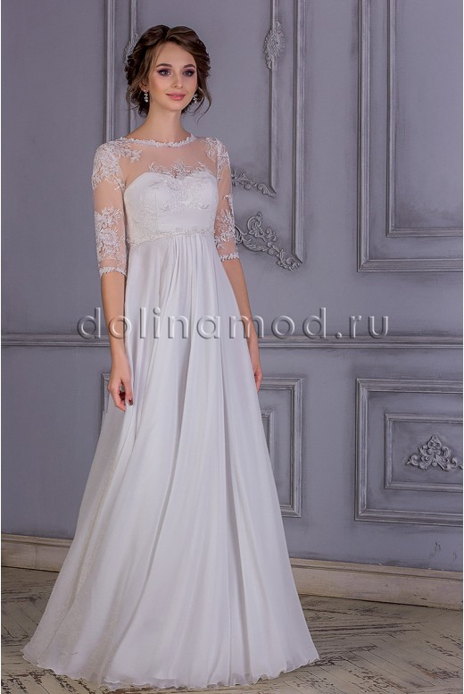 Wedding dress with sleeves Lillian MS-831