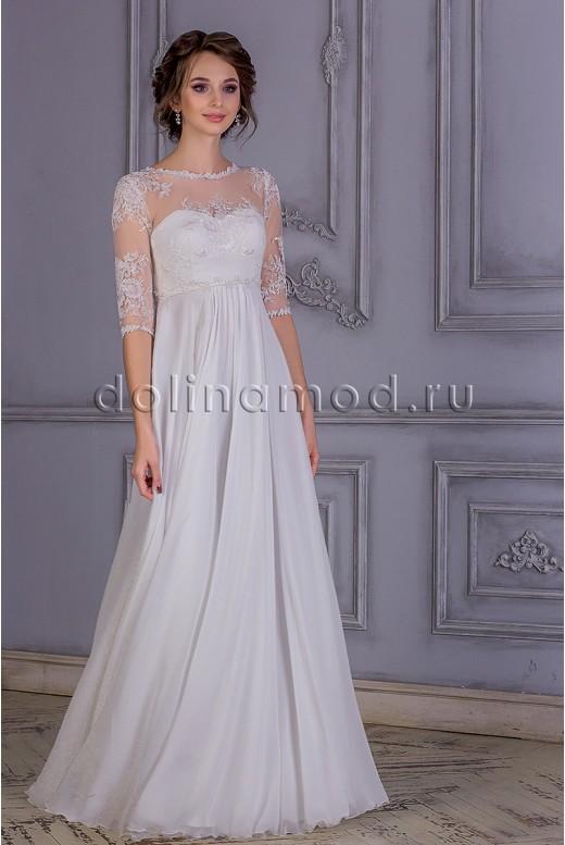 Свадебное платье с рукавами Lillian MS-831