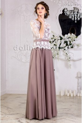 Graduation dress with Angelina DM-853 sleeves