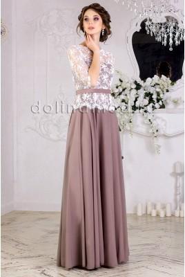 Выпускное платье с рукавами Angelina DM-853