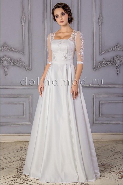Свадебное платье с рукавами DM-882