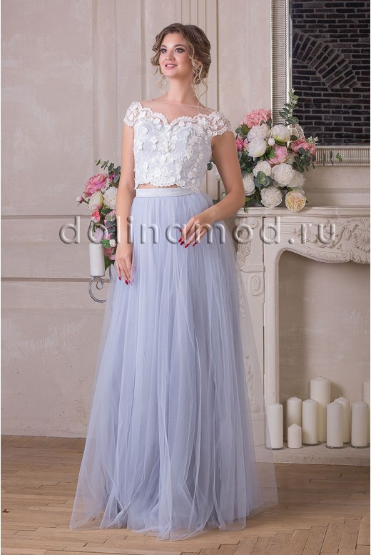 Evening dress crop top Rosalia DM-924