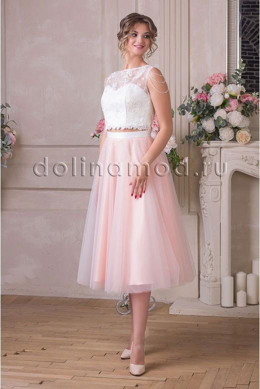Коктейльное платье кроп-топ Alexandra DM-925