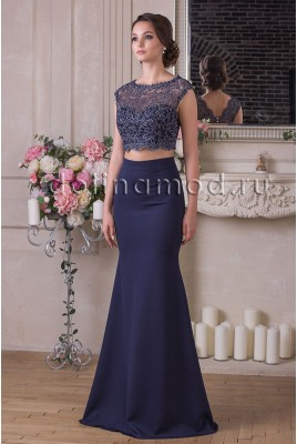 Evening dress crop top Lydia DM-927