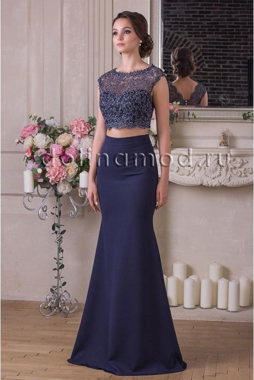 Evening dress crop top Lydia DM-927