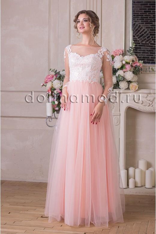 Вечернее платье с рукавами Rosalie DM-936